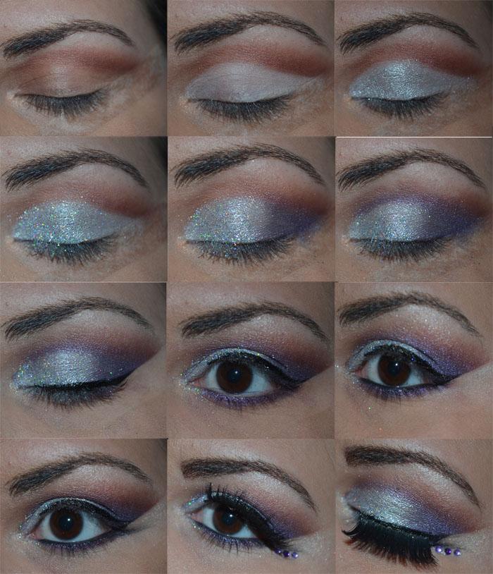 tutorial roxo e prata